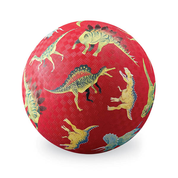 Dinosaurs Red Playground Ball - 7 inch