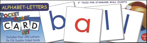 Alphabet-Letters Pocket Chart Card Set