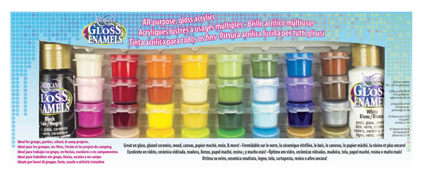 Americana Gloss Enamels Paint - Value Pack (34 colors)