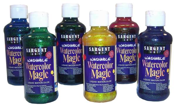 Watercolor Magic Glitter Paint 6 Color Assortment