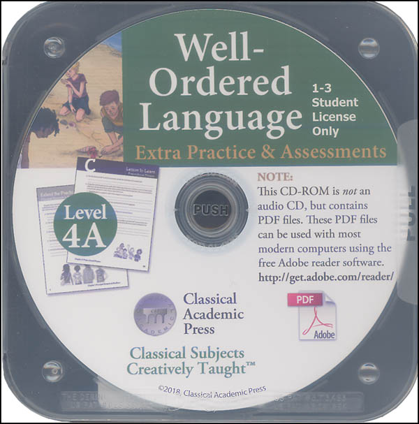 Well-Ordered Language Level 4A Extra Practice & Assessments on CD