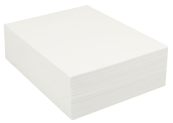 "Medium Bright White Sulphite Drawing Paper 9""x12"" - 500 Sheets"