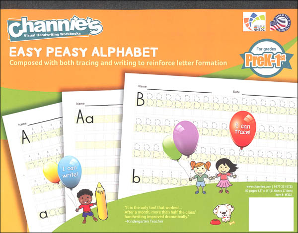 Easy Peasy Alphabet Workbook (Channie's Handwriting)