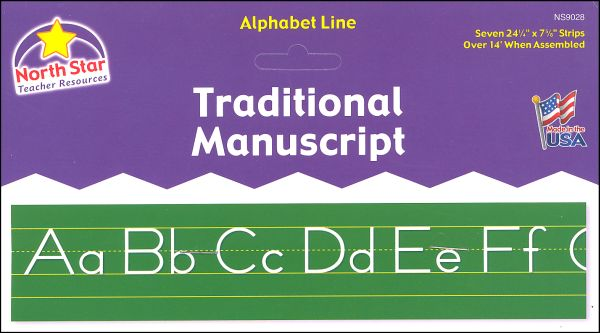 Alphabet Lines - Traditional Manuscript