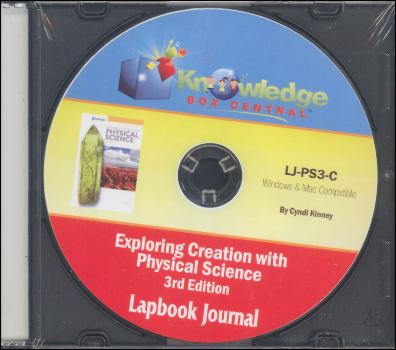 Apologia Exploring Creation with Physical Science 3rd Edition Lapbook Journal CD