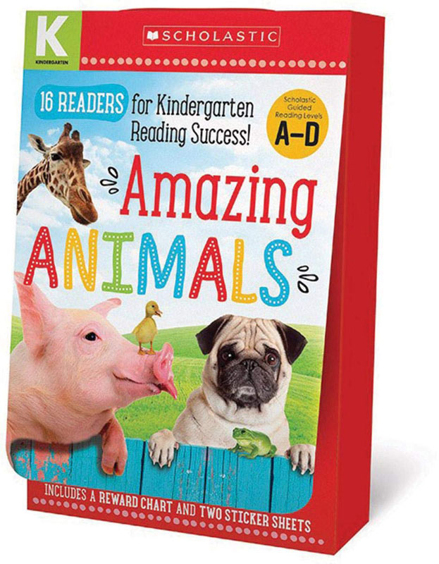 Amazing Animals Kindergarten (A-D Reader Box Set)