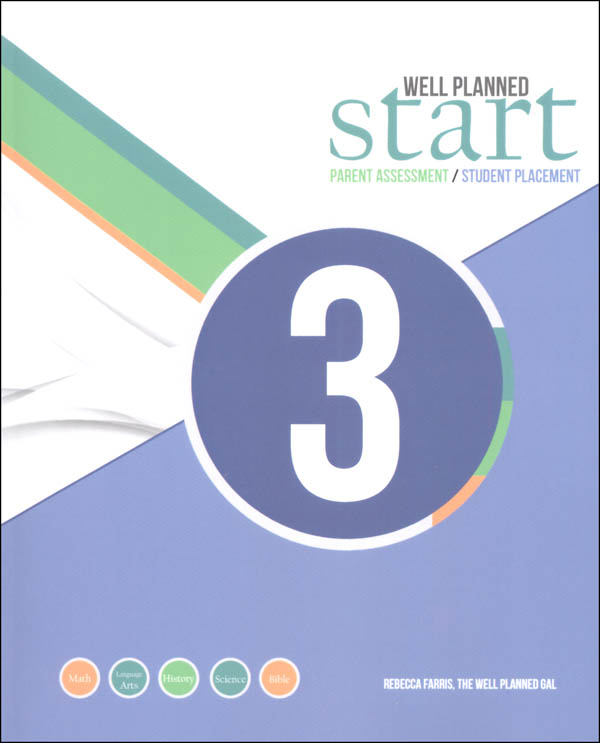 Well Planned Start Parent Assessment/Student Placement Test Grade 3