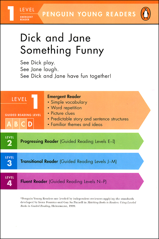 Dick and Jane: Something Funny (Penguin Young Readers Level 1 ...