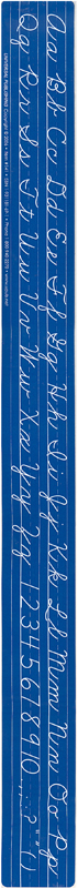 Cursive Desk Strip, Self-Adhesive