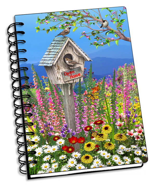 "Birdhouse 3D Notebook 4"" x 6"""