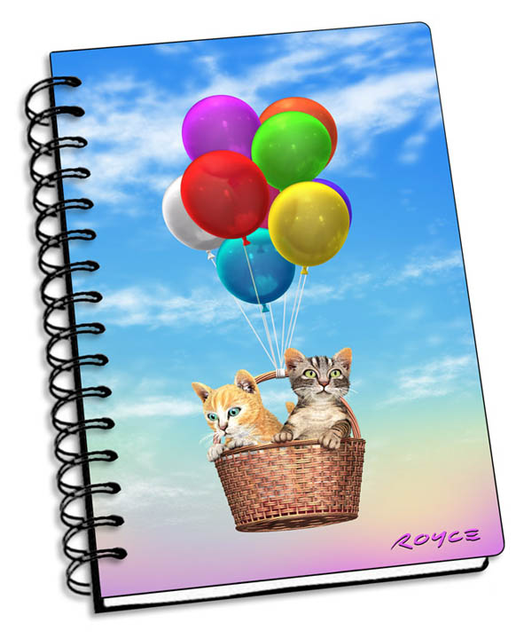 "Kitty Up 3D Notebook 4"" x 6"""