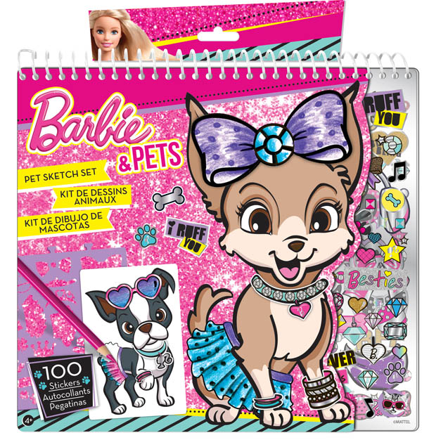 Barbie Purrr Fect Pet Sketch Portfolio Fashion Angels Enterprises