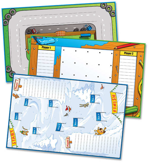 Zaner-Bloser Spelling Connections Grade 2 Game Mats (2012 edition)