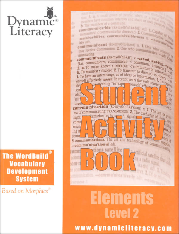 WordBuild Elements Level 2 Student Activity Book