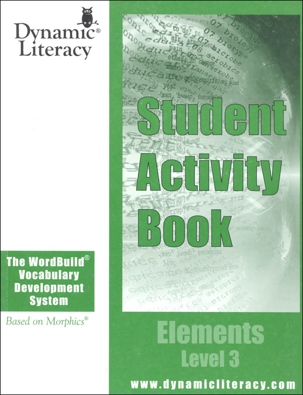 WordBuild Elements Level 3 Student Activity Book