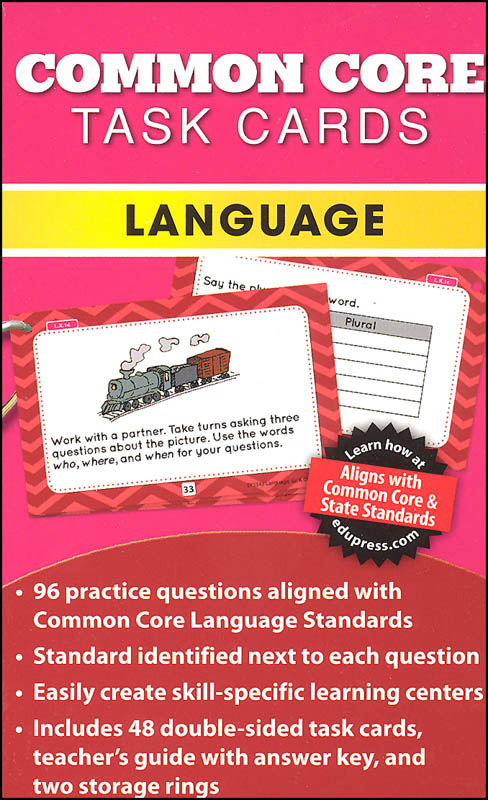 Common Core Language Task Cards Grade K
