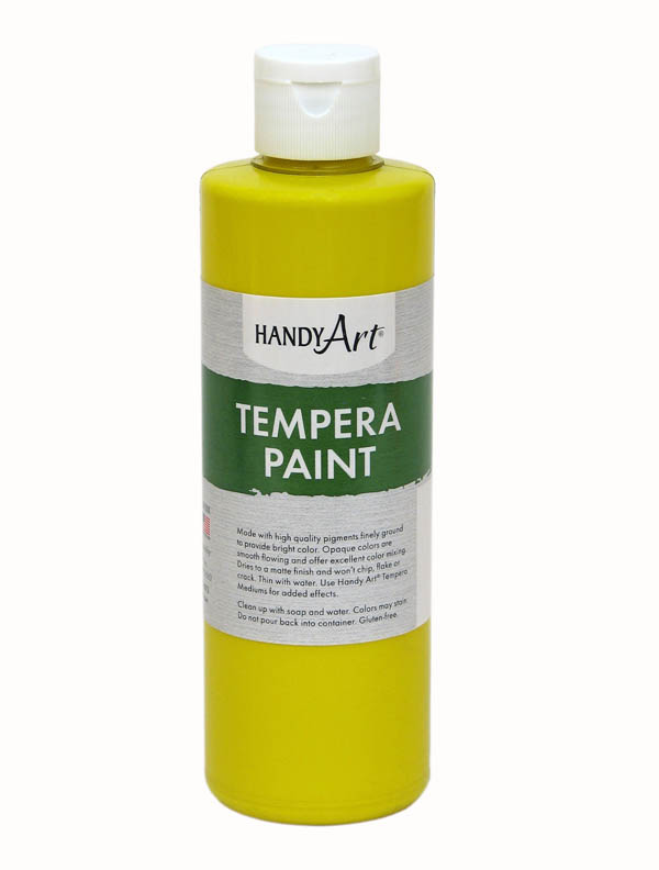 Yellow Tempera Paint 8 oz.