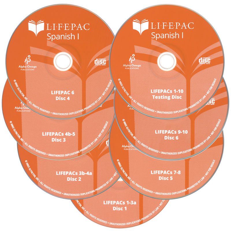 Spanish 1 Lifepac CD Set