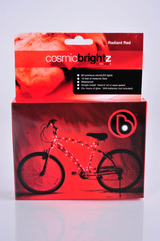Cosmic Brightz Bike Wrap - Red(60 lights/10')