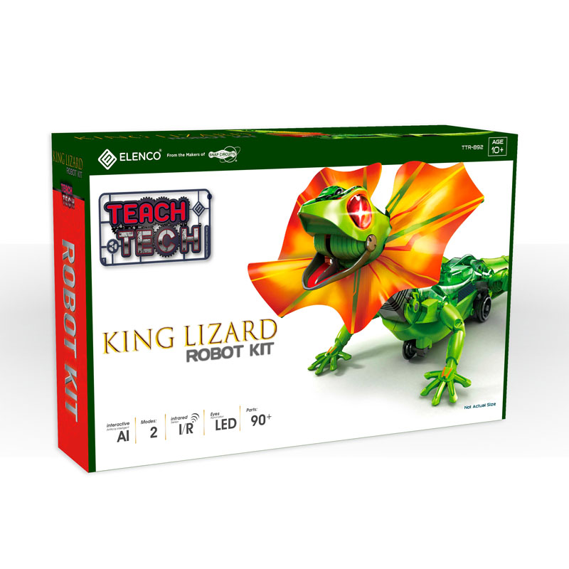 Teach Tech King Lizard Robot Kit