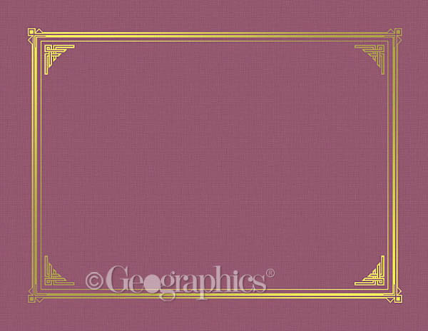 Burgundy Document Covers Package of 6
