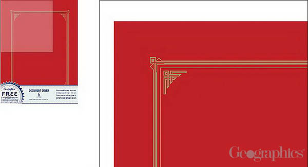 Red Document Covers (Linen-look) Package of 6