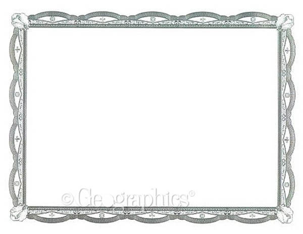 Silver Filigree Foil Certificates (Package of 12)