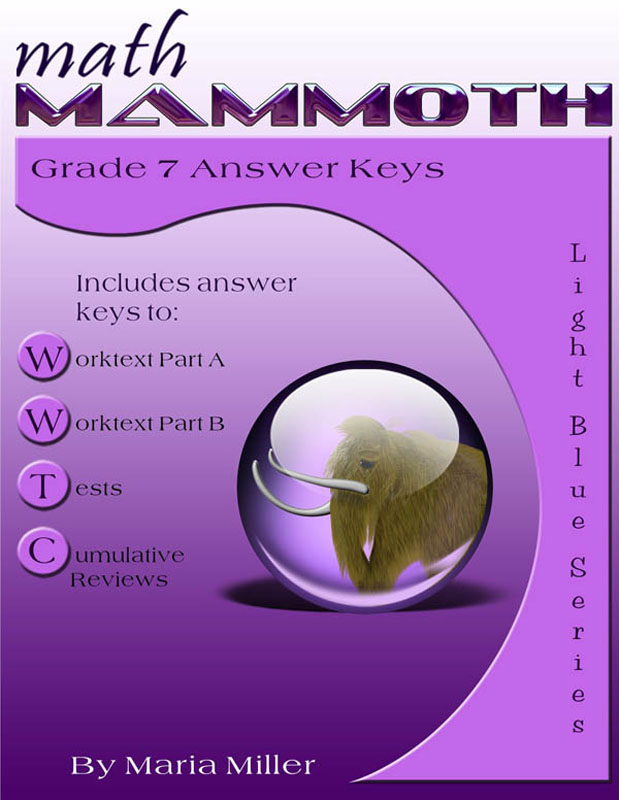 Math Mammoth Light Blue Series Grade 7 Answer Key