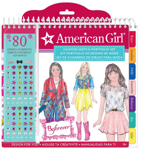 American Girl Beforever Sketch Portfolio Fashion Angels Enterprises 9781940141565