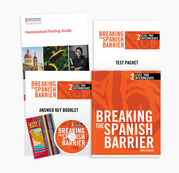 Breaking the Spanish Barrier Level 2 (Intermediate) Homeschool Package