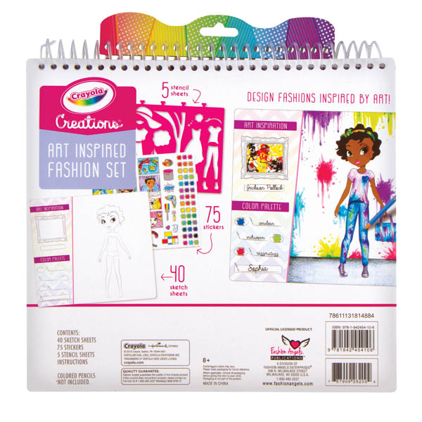 Crayola Creations Art History Fashion Set Fashion Angels Enterprises 9781942454106