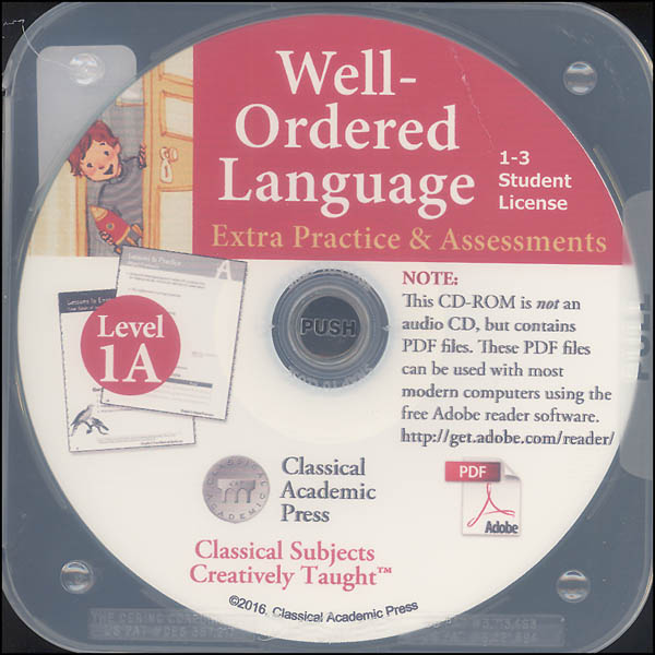 Well-Ordered Language Level 1A Extra Practice & Assessments on CD