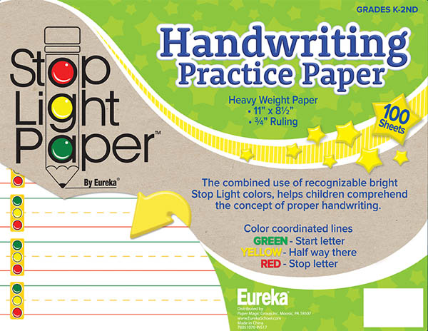 Stop Light Handwriting Practice Paper - 100 Sheets