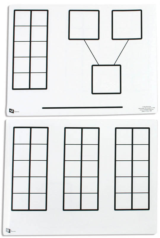 Ten Frames/Number Bond Dry Erase Board