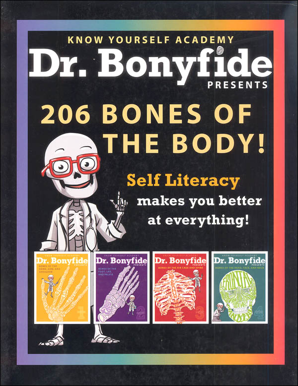 Dr. Bonyfide Presents 206 Bones of the Body Bundle of 4 Books