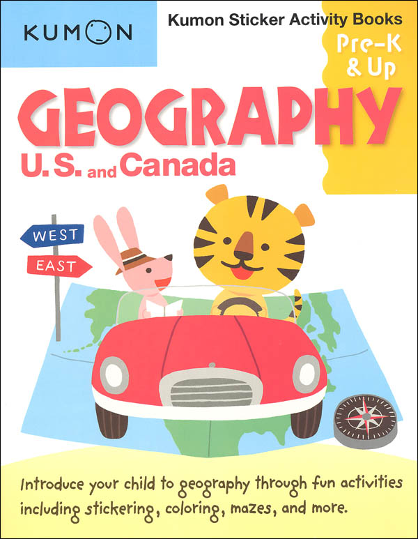 Geography Kumon Sticker Activity Book Pre-K & Up