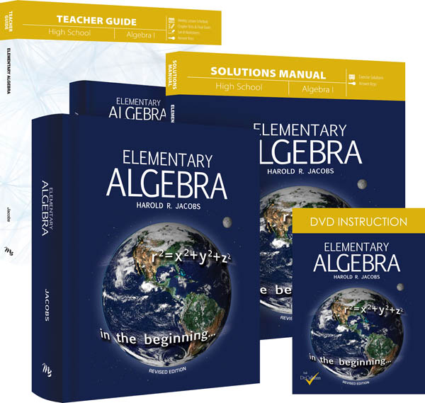 Elementary Algebra (Jacobs) 3 Book / 6 Volume DVD Set