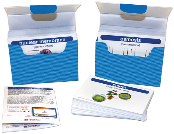 Life Science Vocabulary Builder Flash Card Sets - Middle School