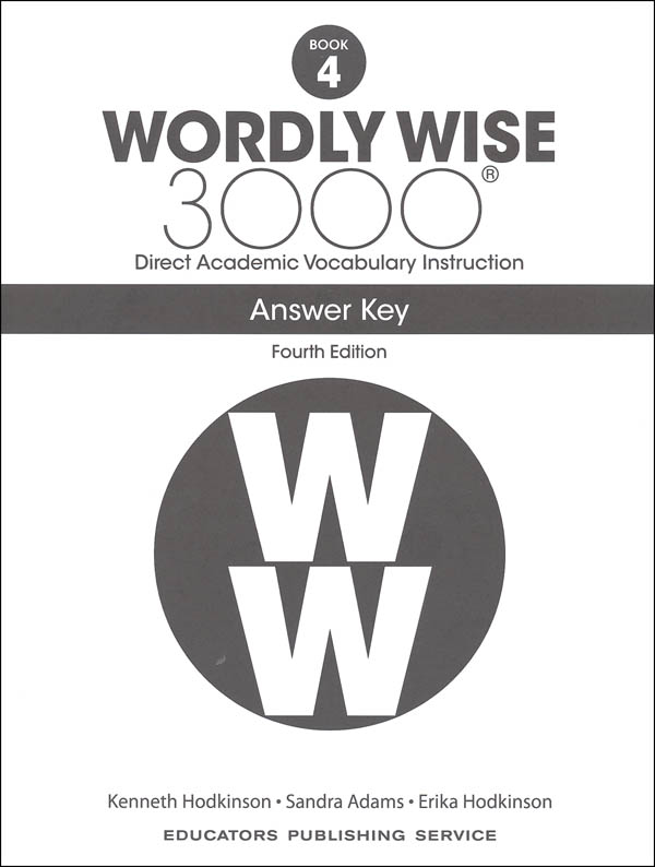 Wordly Wise 3000 4th Edition Key Book 4