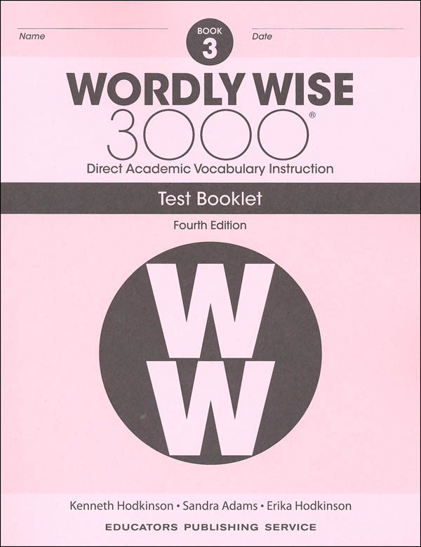 Wordly Wise 3000 4th Edition Test Book 3