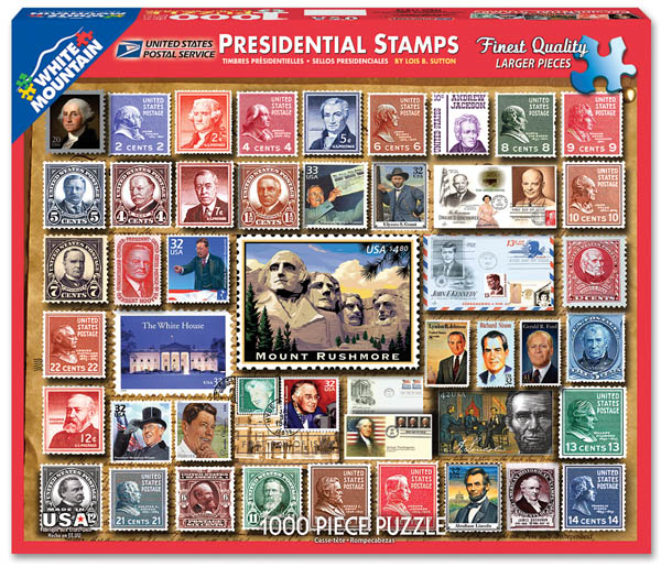 Presidential Stamps Collage Jigsaw Puzzle (1000 piece)