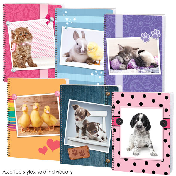 Warm-N-Fuzzy Wide Ruled Theme Book Assorted Design