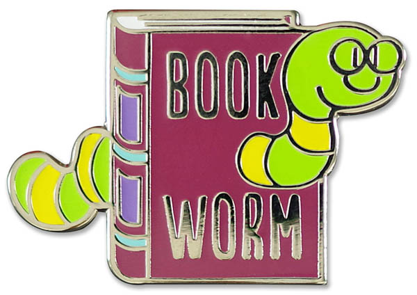 Bookworm Enamel Pin