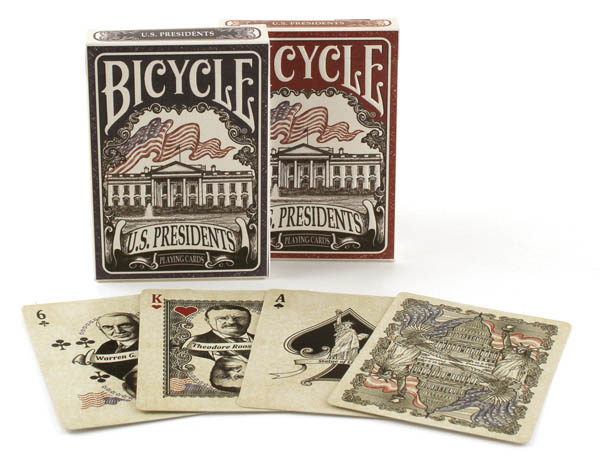 Bicycle U.S. Presidents Playing Cards Blue or Red Deck (assorted)