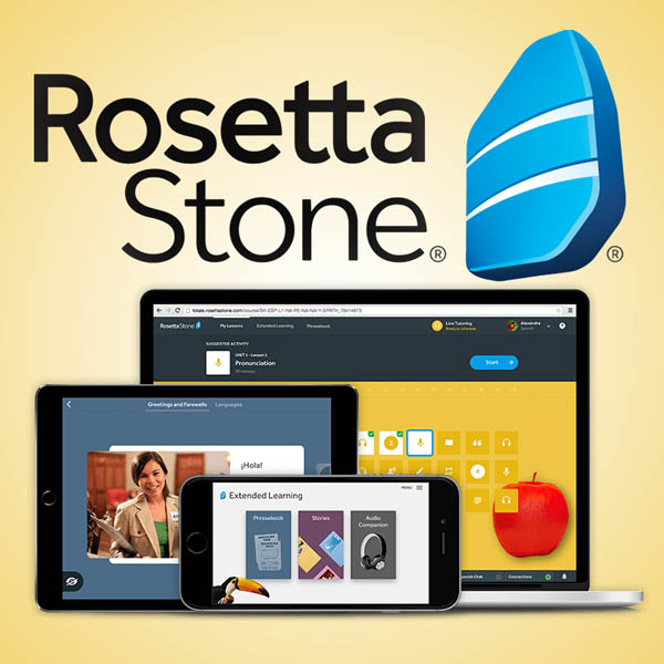 Rosetta Stone Homeschool Family Pack (3 users) Unlimited Languages Subscription - 24 months