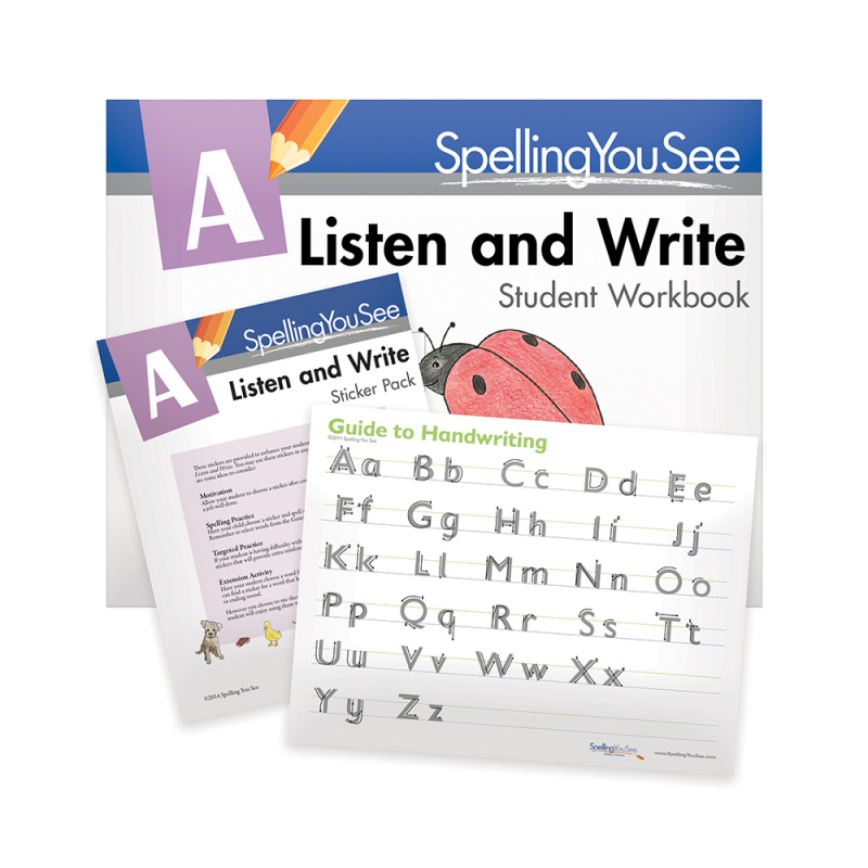 Spelling You See Level A: Listen & Write Student Pack