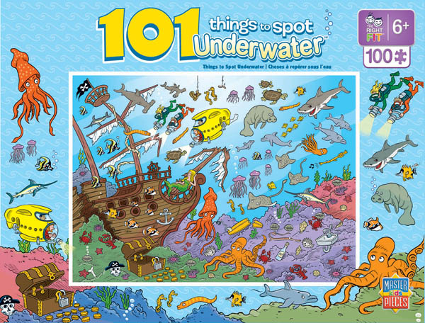 101 Things to Spot Underwater (100 Piece Puzzle)