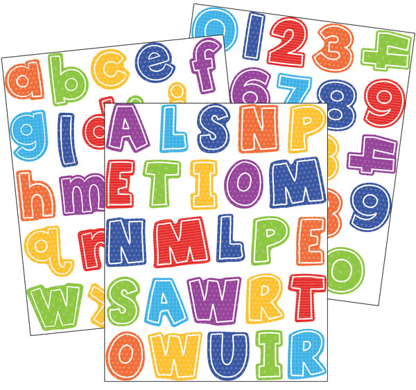 Letters and Numbers Stickers (470 stickers)