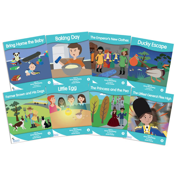 Fantail Readers: Fiction - Turquoise (set of 8) Reading Level 17-18, Guided Reading Level I-K