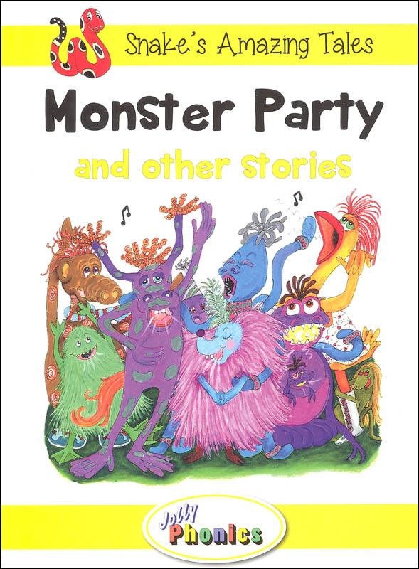 Jolly Phonics Decodable Readers Level 2 Snake's Amazing Tales - Monster Party and other stories